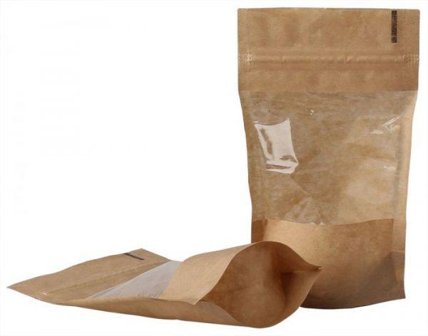 Doy-pack maišeliai su langeliu