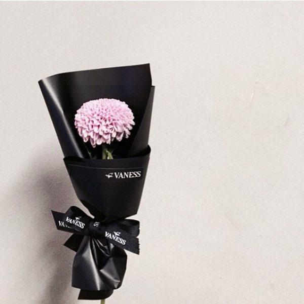 Satino juostelės su spauda Vaness gėlėms