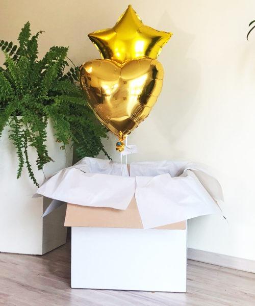 Balionai dėžėje blizgūs foliniai šventėms