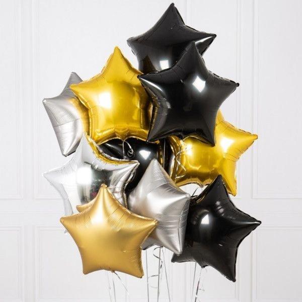 Foliniai balionai žvaigždutės formos spalvoti šventėms