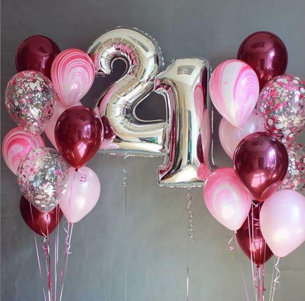 Foliniai balionai skaičiai raidės nuostabiai šventei