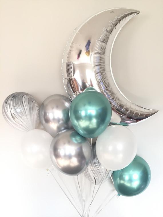 Foliniai balionai šventėms dovanoms progoms pusmėnulio formoms