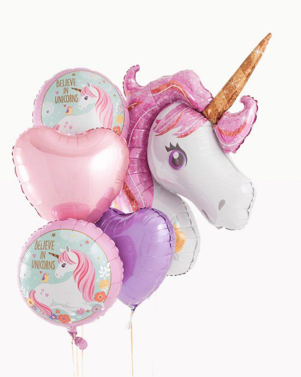 Foliniai balionai vaikų šventėms vienaragis unicorns