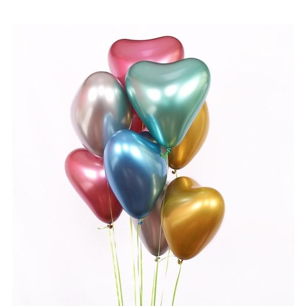 Guminiai helio spalvoti balionai širdys dovanų