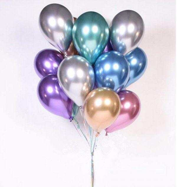 Helio guminiai balionai dovana šventės dekoracijai
