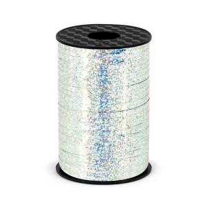 Plastikinė juostelė, holografinio sidabro spalvos (5 mm/225 m)