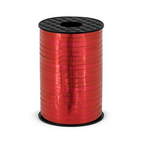 Plastikinė juostelė, raudonos spalvos blizgi (5 mm/225 m)