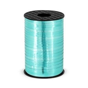 Plastikinė juostelė, turkio spalvos blizgi (5 mm/225 m)